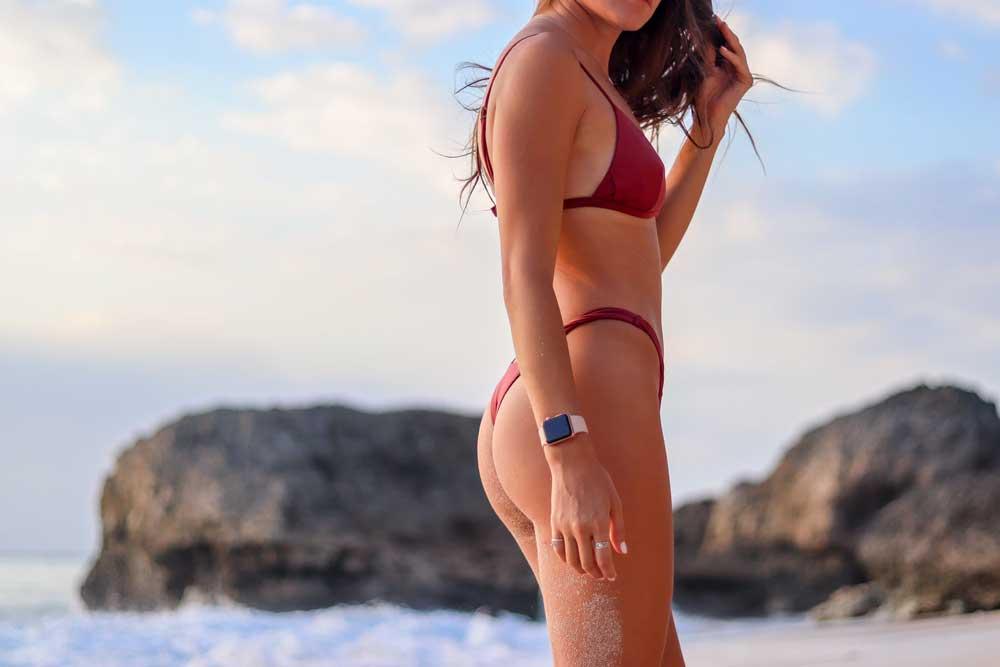 Woman wearing thong representing East Bay Brazilian Waxing