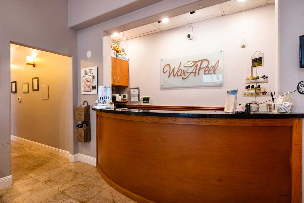 Front lobby at Wax A Peel - a day spa in downtown Lafayette, CA